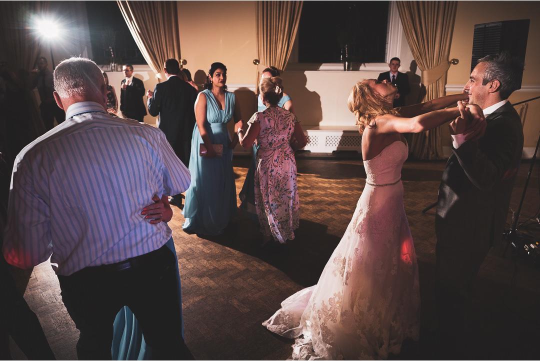 Wedding dancing at Farnham Castle