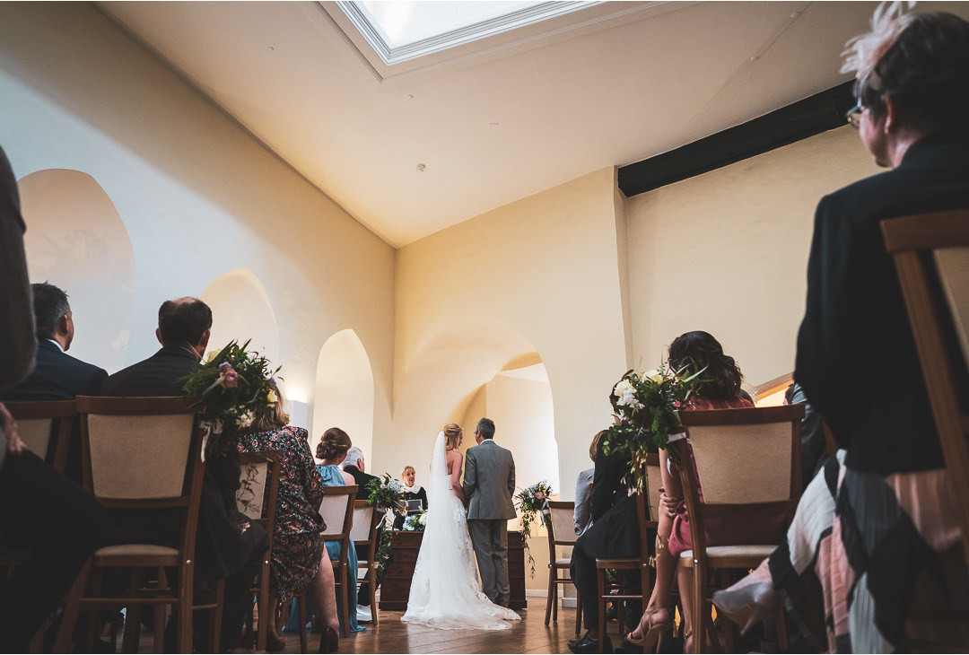 The ceremony room at Farnham Castle