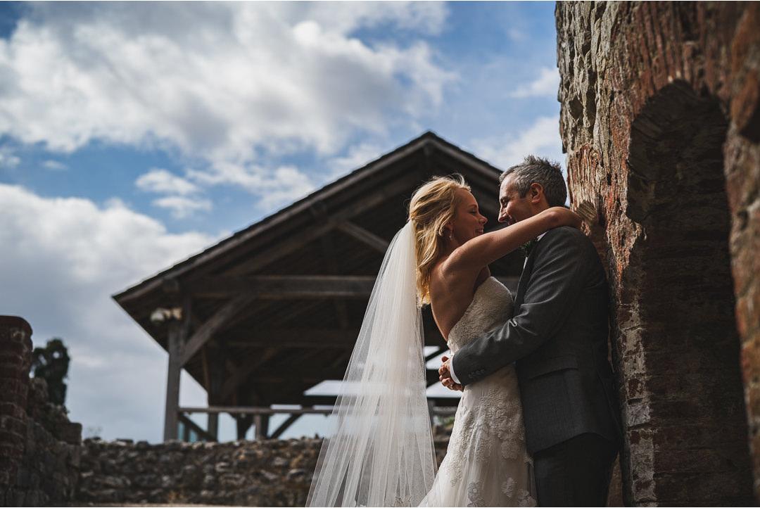 Bride and Groom at Farnham Castle
