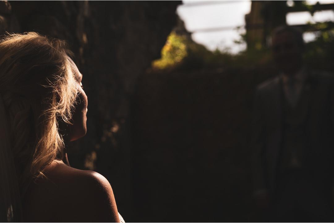 Bride in the sun