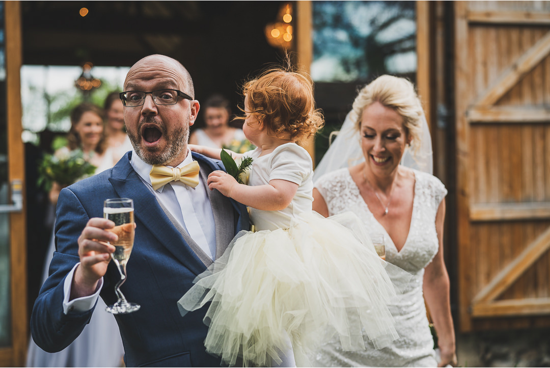 The Groom's reaction just after getting married