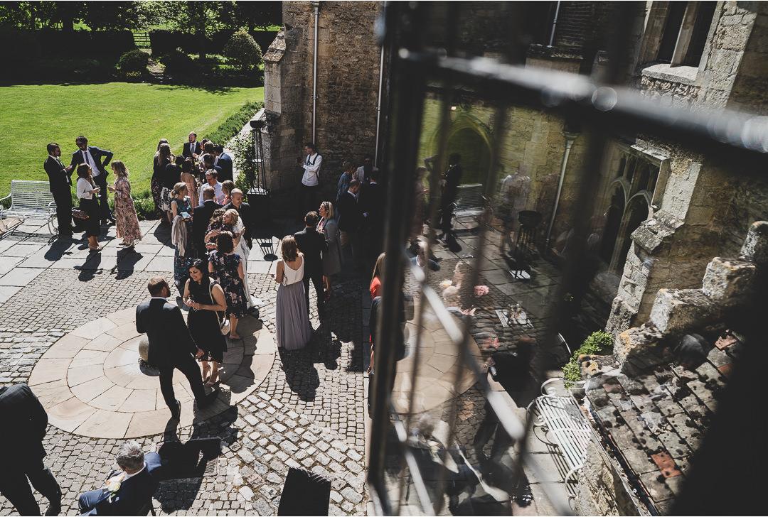 Notley Abbey courtyard
