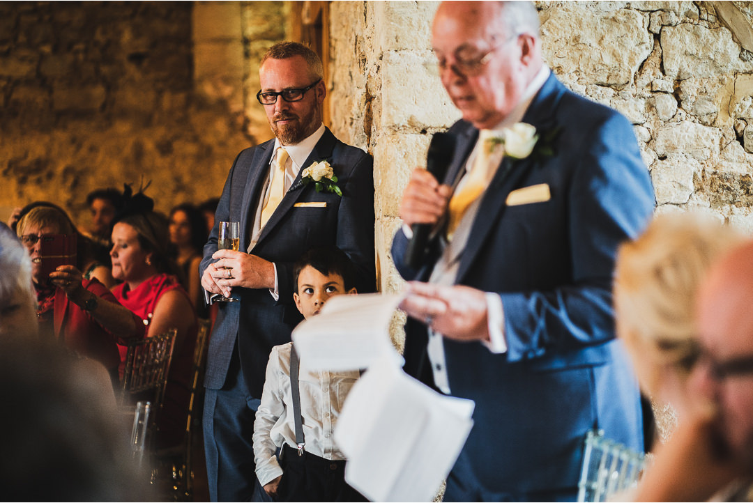 Wedding speeches at Notley Abbey