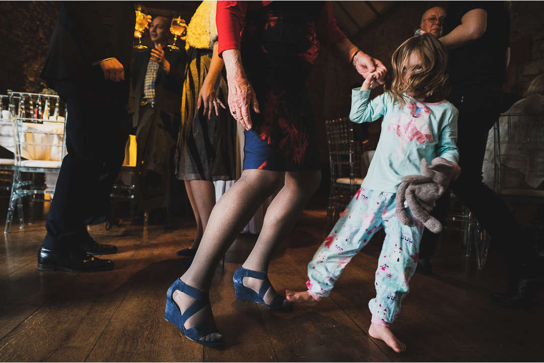 Kids dancing at a wedding