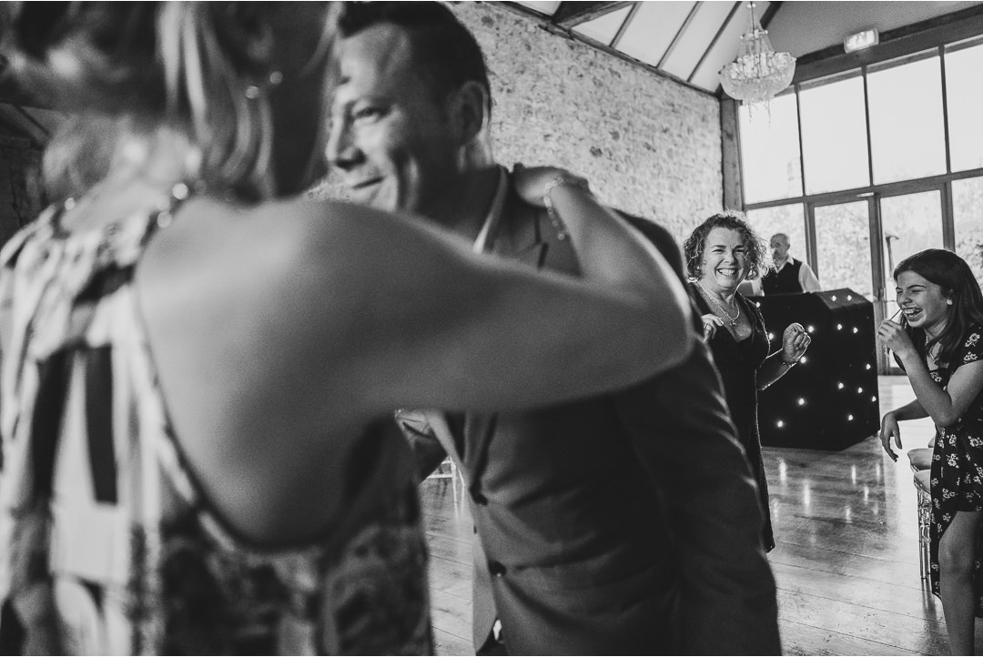 Wedding dancing at Notley Abbey