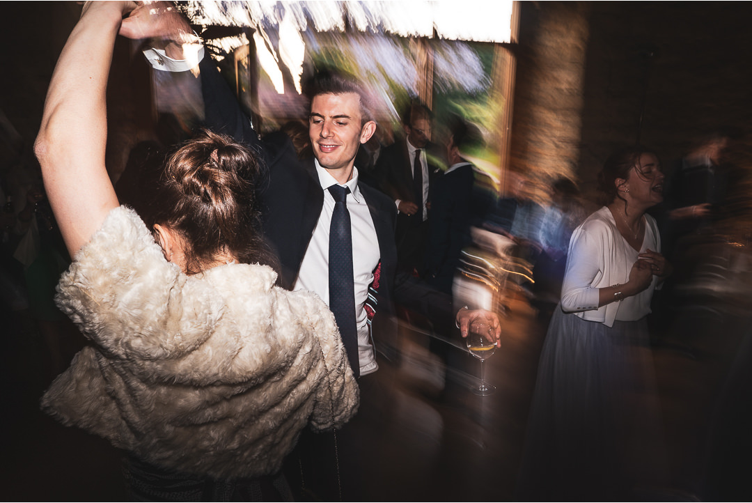 Dancing at Notley Abbey wedding